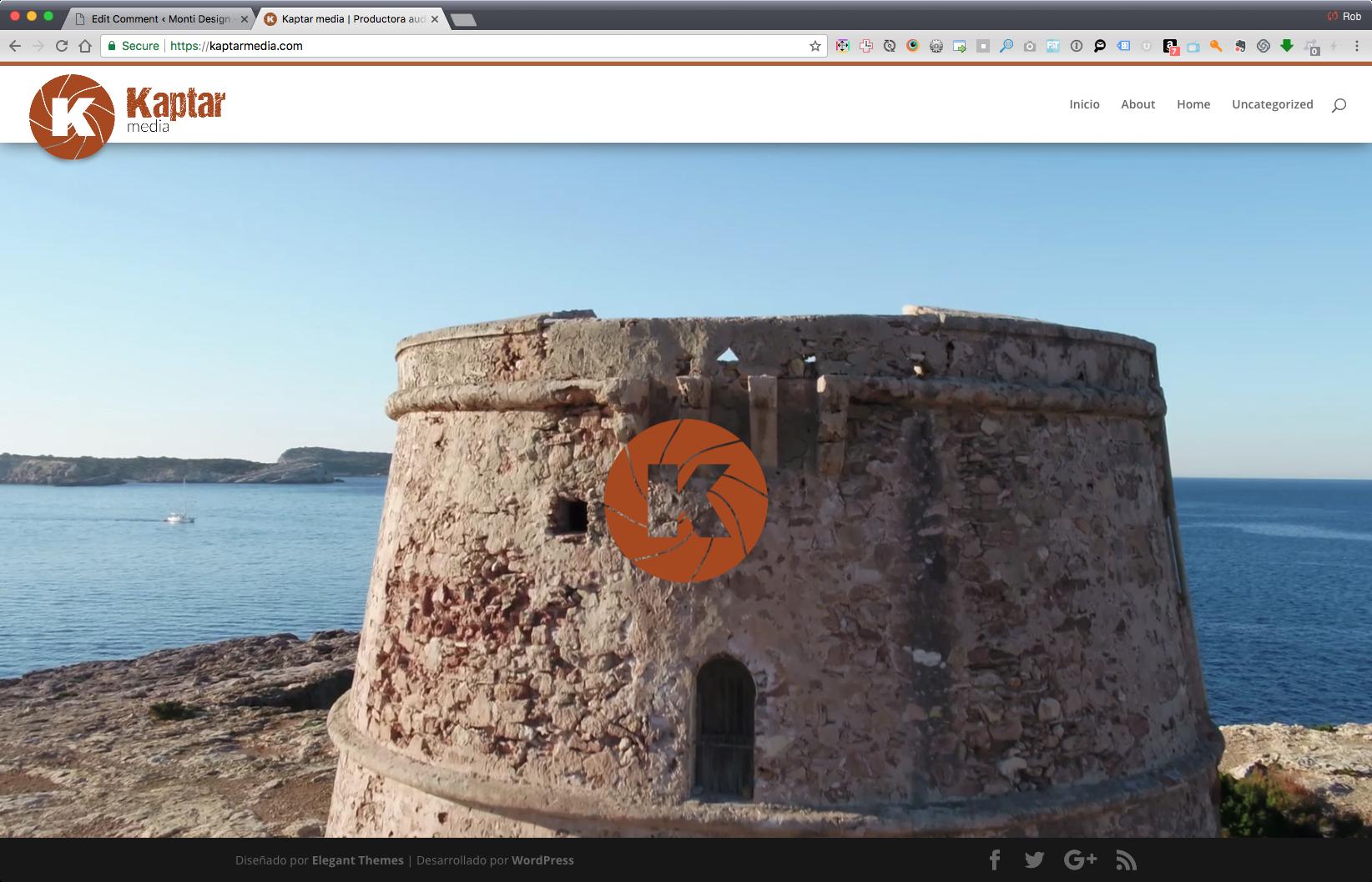 Screenshot of kaptarmedia.com